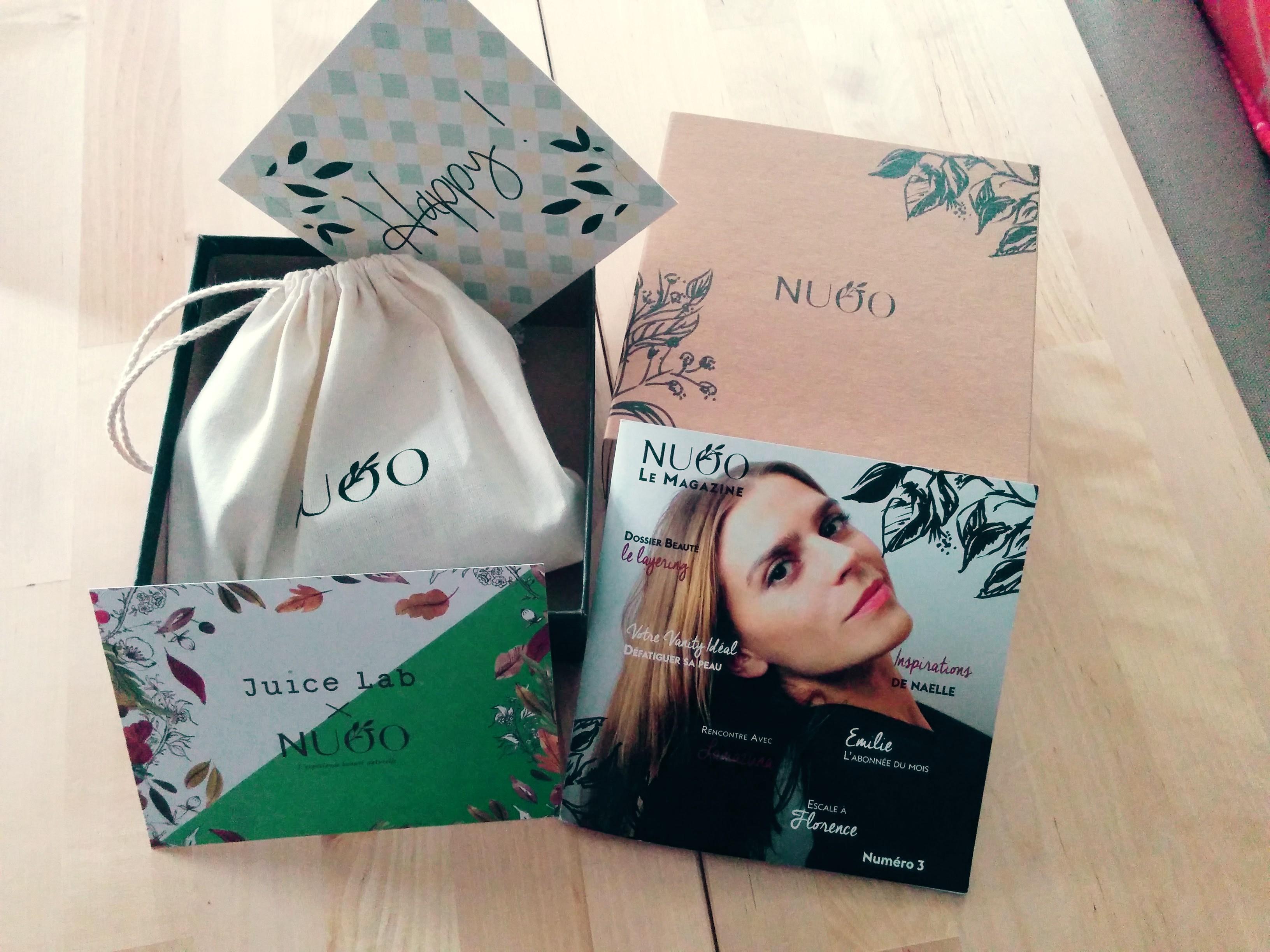 NUOO : box de janvier et impressions générales